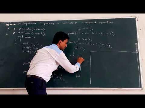 Assignment Operator In C Language New 5