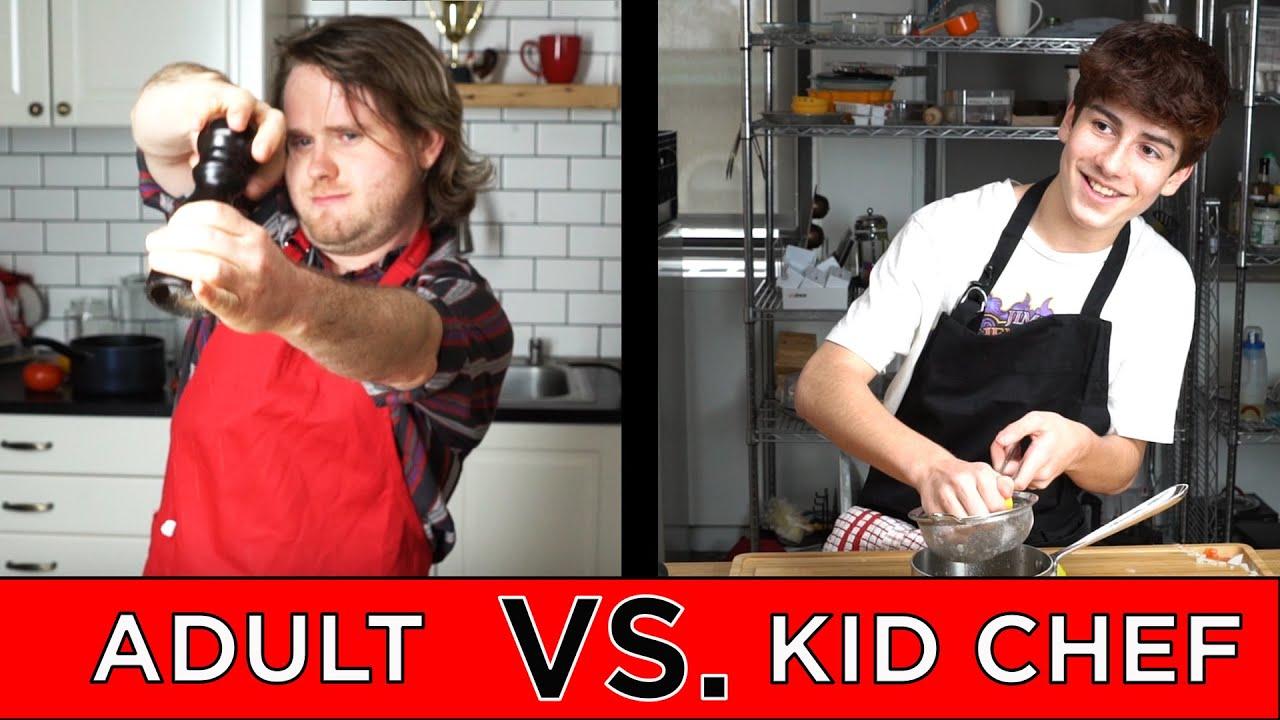 Kid Professional Chef Vs. Adult Chef