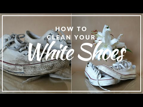CLEAN AND WHITEN YOUR WHITE SNEAKERS IN LESS THAN 2 MINUTES