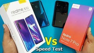 Realme 5 Pro vs Redmi Note 7 Pro Speed Test    Antutu Benchmark Scores