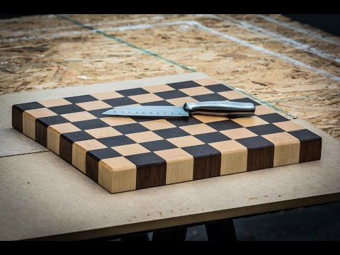 End Grain Cutting Board-Maple and Walnut
