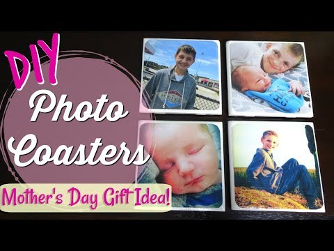 DIY PHOTO COASTERS |  DIY MOTHER'S DAY GIFT | WEEK 1 OF 4
