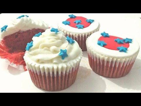 4th of July Cupcakes decorating idea. 4th of July Cupcakes.