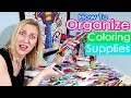 How to Organize Coloring & Art Supplies - Lots of Ideas