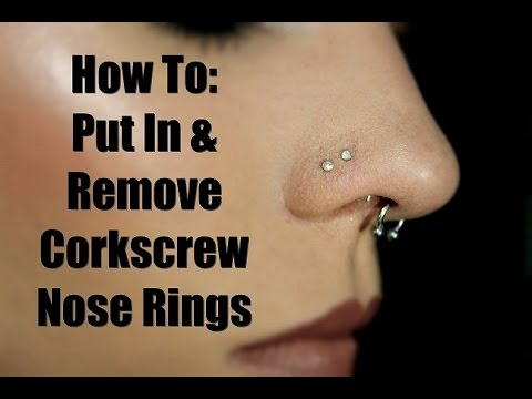 How To: Put In & Take Out Cork Screw Nose Studs.