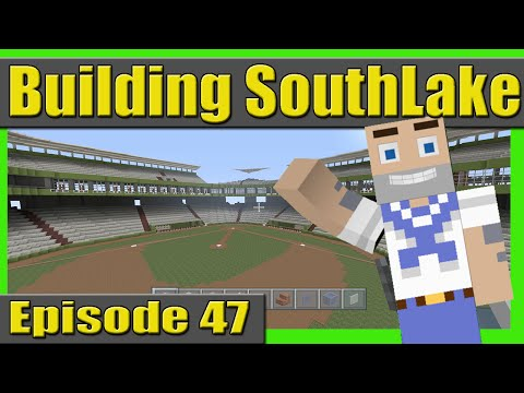 THE NEW STADIUM DUGOUT!! Building SouthLake City Episode 47