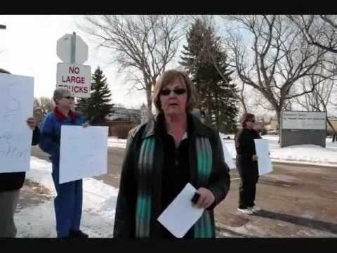 Claresholm Local Press AUPE wildcat strike coverage Feb. 16