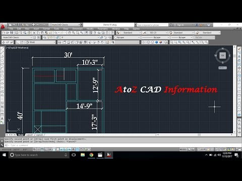 How to setup units in feet in Autocad for [Beginner Tutorial]