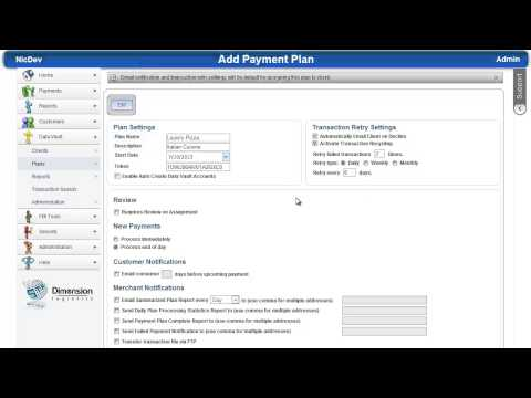 Credit Card Processing 101. How to Create a New Payment Plan