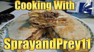 "Cooking With Sprayandprey11 ""breakfast Cheeseburger Quesadilla"""
