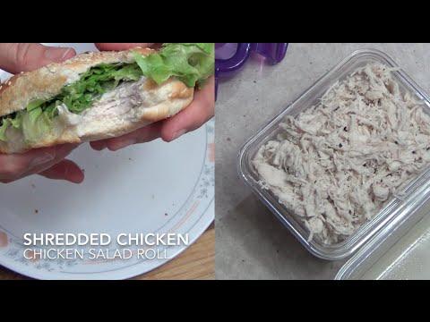 Easy Shredded Chicken & Chicken Salad Sandwich cheekyricho Thermo Video Recipe 1,081