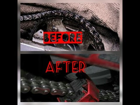 How to clean your motorcyle chain properly || Easy Chain wash at home || DIY ||