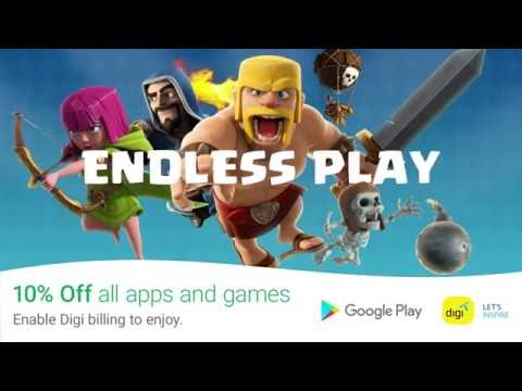 Get 10% off all games and apps on Google Play with Digi billing