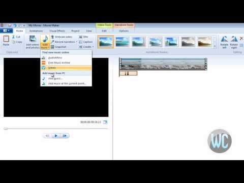Windows Live Movie Maker 2012 - Record Narration