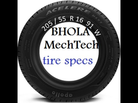 how to read tire size and other specifications