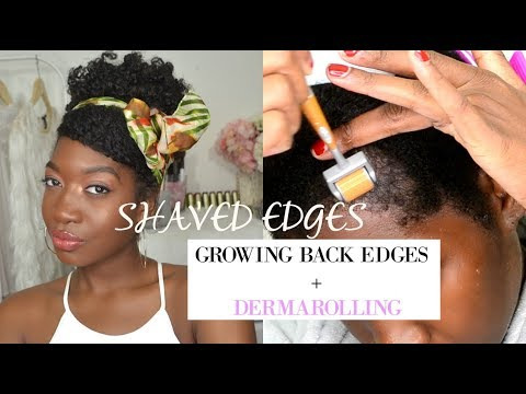 SHAVED OFF EDGES TO GROW THEM BACK THICKER | WEEKLY DERMAROLLER CHECK-IN SESSION + ACCOUNTABILITY #3