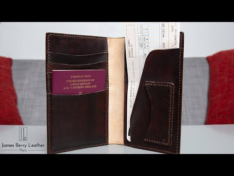 Travel wallet vegtan leather build