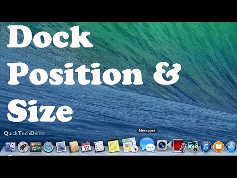Change Dock Position & Size in Mac OS X Mavericks