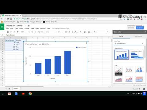 Make a Line Graph with Google Docs