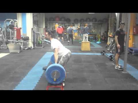 Block snatch 85kg, powerclean 100kg