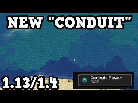 Minecraft 1.13 NEW Conduit & Dolphin Behaviour!