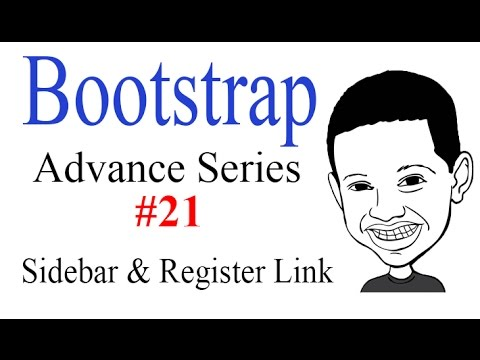 Advance Bootstrap Tutorial With PHP #21: Creating Modular Sidebar And Registration Link Component