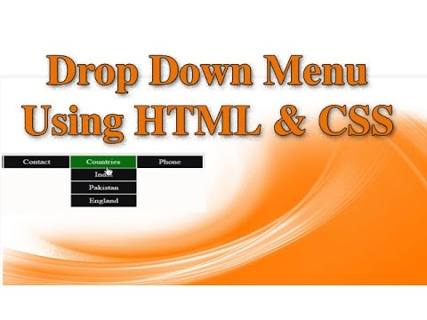 How to create Dropdown Menu in Html and CSS (Hindi)