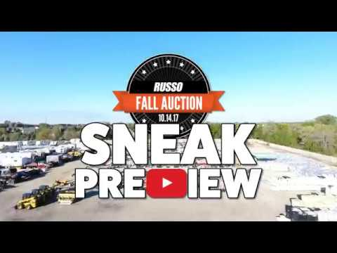 Russo Used Equipment Auction - Fall 2017 Sneak Preview
