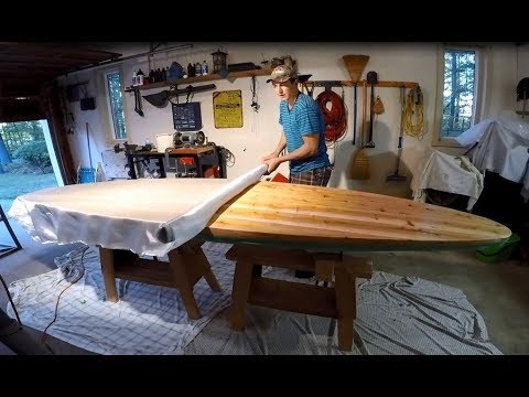 Building a Wooden Paddle Board - Part 8: Fiberglassing