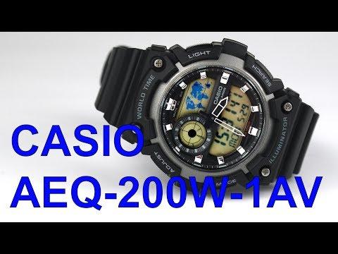 Casio AEQ-200W-1AV World Time Watch