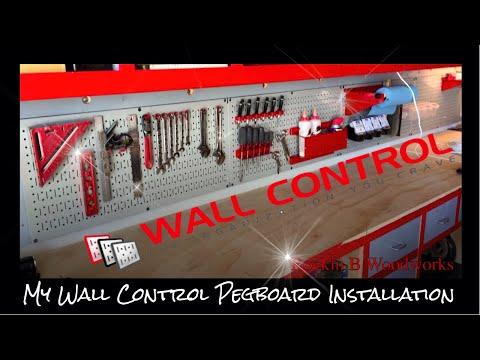My Wall Control Pegboard Installation