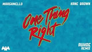 Marshmello x Kane Brown - One Thing Right (Ruhde Remix)