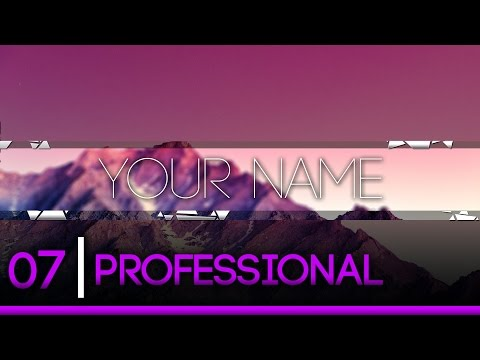 How To Make A Professional 2D Banner In Photoshop! YouTube Banner Tutorial - New 2016!