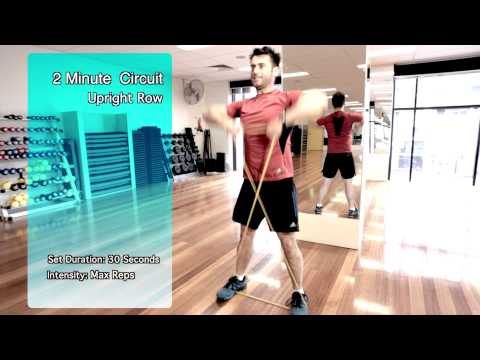 Home Fat Loss Workout 10 - 2 Minute Resistance Band Workout