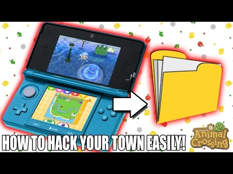 HOW TO EASILY HACK YOUR TOWN! - Animal Crossing New Leaf