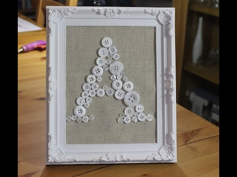 How to make a Button Picture Frame