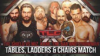 WWE TLC 2017 - The Shield vs The Miz, Cesaro, Sheamus, Kane & Braun Strowman (TLC Match) - WWE 2K18
