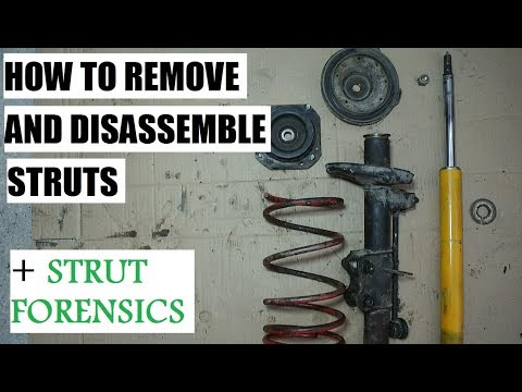 How to remove and disassemble struts - suspension episode 6