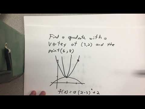 Find Quadratic given vertex and point