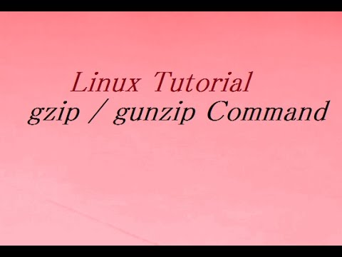 gzip / gunzip Command in Unix / Linux