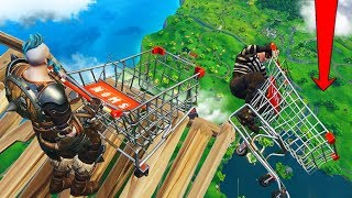Bumper Cars At *MAX HEIGHT* In Fortnite Battle Royale!