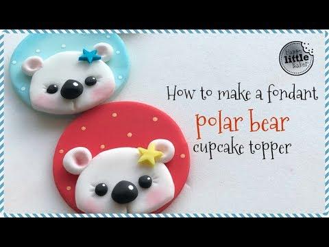 How to make a fondant polar bear cupcake topper