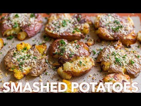 Crispy Smashed Potatoes -  Easy!