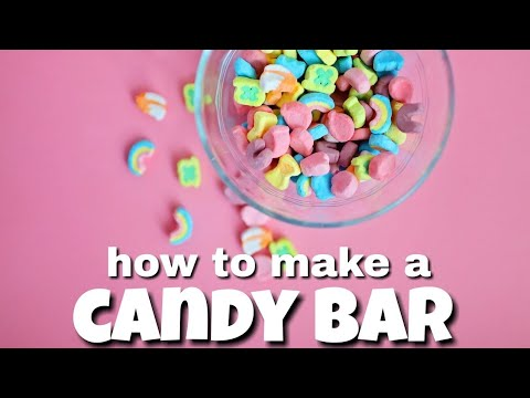 How to Make a Wedding Candy Bar l Candy Buffet Ideas