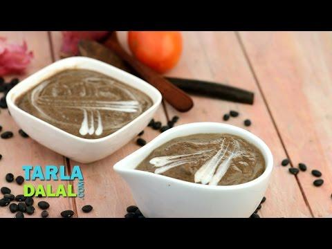 Black Bean Soup, Mexican Veg Black Bean Soup by Tarla Dalal
