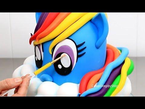 How To Make a RAINBOW DASH PONY Cake | My Little Pony Cake by Cakes StepbyStep