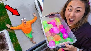 DROPPING WATER BALLOONS ON CARTER SHARER!!