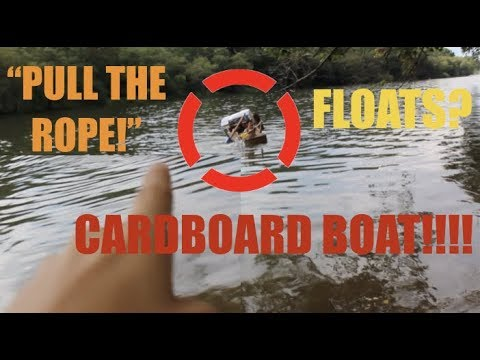 CARDBOARD BOAT! SAILING THE FRENCHBROAD RIVER