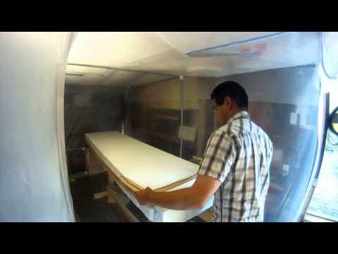 Semi-Gun Surfboard - DYI / Making the Blank Timelapse - Hot wire