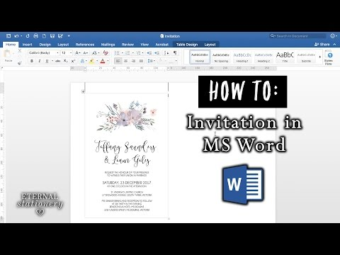 How to make an invitation in Microsoft Word | DIY Wedding Invitations | MS Word office
